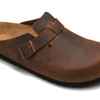 Birkenstock Boston Soft Footbed Oiled Leather Color Brown