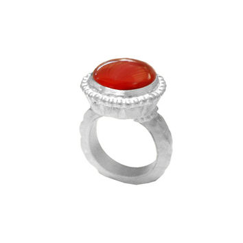 Red Hot Cocktail Ring, big ring, statement ring, gemstone ring, large ring, chunky ring, agate ring, stone ring, gem ring, natural stone