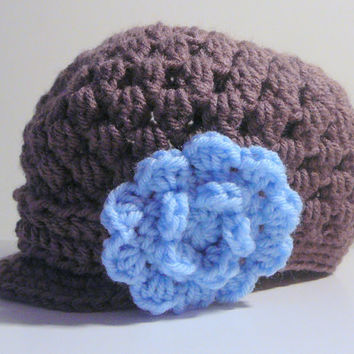 Lyla Newsie Hat PDF Crochet Pattern - Newborn to Adult INSTANT DOWNLOAD