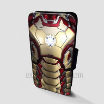 Iron Man Wallet iPhone Cases Arc Reactor Samsung Wallet Leather Phone Cases