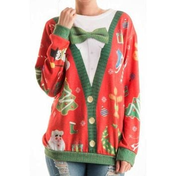 Mr. Rodgers Tacky Ugly Christmas Sweater