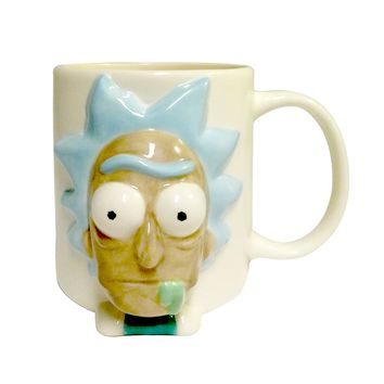 Officially Licensed Rick and Morty 3D Rick's Face Coffee Mug