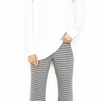 Michael Lauren Danny Wide Leg Stripe Pants