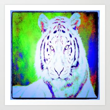 the tiger  Art Print by Jessica Ivy