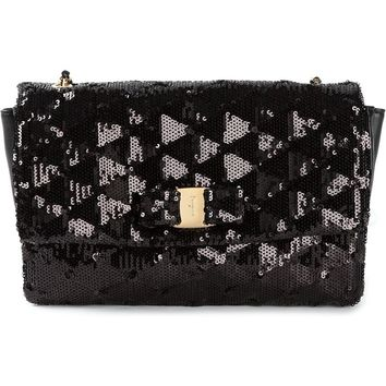 Salvatore Ferragamo 'Vara' sequin clutch