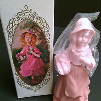 Rare Vtg Avon Pretty Girl Pink Collectible Bottle, Unforgettable Cologne 3oz,NIB