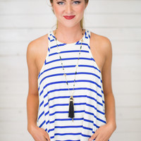 Cut In Line Stripe Tank