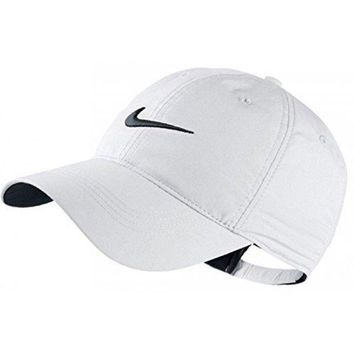 Nike Classic Golf Sun Cap Hat Dri Fit Unisex Adjustable Osfm Velcro Closure White/black