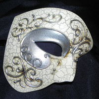 Silver and Ivory Phantom of the Opera Mask