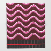 Sequins and Snakes Throw Blanket by Octavia Soldani | Society6