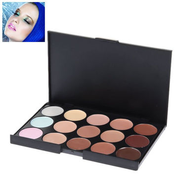 Face Concealer Essential Cosmetic Set with Rectangle Box (15 Colors)