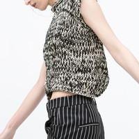 Printed asymmetrical top