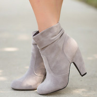 'Fur' the Love Booties-Slate