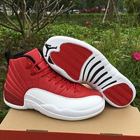 "Air Jordan 12 ""Gym Red"" AJ 12 Men Women Basketball Shoes"
