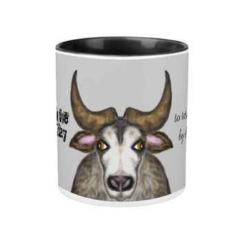 Take the bull by the horns Two-Tone coffee mug