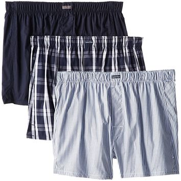 Men's Three-Pack Cotton Classic Woven Boxer