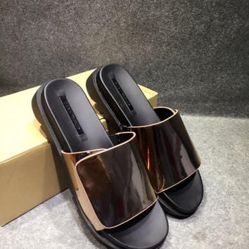 Shoes Metal Casual Anti-skid Flat Soft Slippers [4918350084]