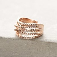 Crossed Orbit Ring by Anthropologie