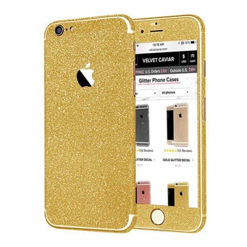 DARK GOLD GLITTER DECAL