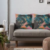 'Don't look away' Throw Pillow by DuckyB