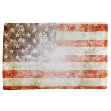 PEAPGQ9 4th of July American Flag Star Spangled Banner All Over Hand Towel