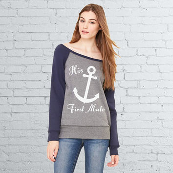 His First Mate - Women's Nautical Sweatshirt