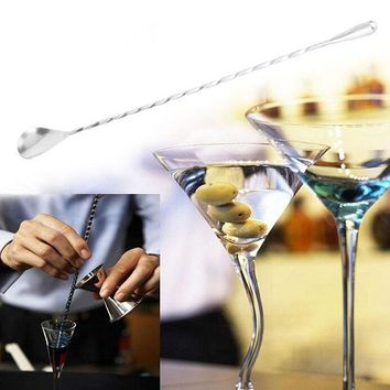 ICIK272 Stainless Steel Cocktail Drink Mixer Bar Puddler Stirring Spoon Ladle Free Shipping MD1019