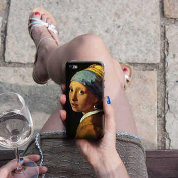 Girl with a Pearl Earring - Vermeer iPhone Case 6, 6S, 6 Plus, 4S, 5S. HTC, LG, Galaxy, Huawei. Art Painting Gift Idea. Gift for him/her
