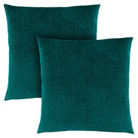 "Pillow - 18""X 18"" / Emerald Green Mosaic Velvet / 2Pcs"