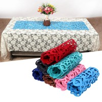 102 x 29cm  Rectangle Shape Felt Tablecloth Runner Placemats Table Mats Household Decorations For Home Table 7Color