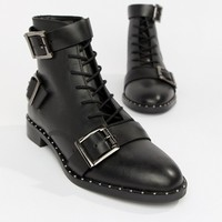 ASOS DESIGN Arabelle leather lace up boots at asos.com