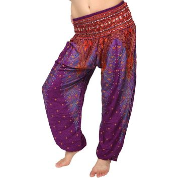 Ruby Sangria Peacock Harem Pants