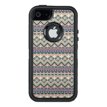 Colorful Abstract Aztec Tribal Pattern Geometric OtterBox Defender iPhone Case
