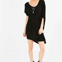 Truly Madly Deeply Asymmetrical Draped Tee- Black