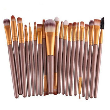 20 pcs/set Makeup Brush Set (Gold)
