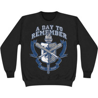 A Day To Remember Men's  University Sweatshirt Black Rockabilia