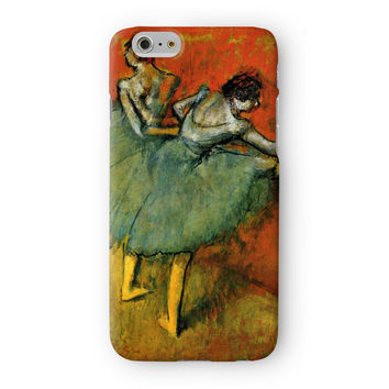 Ballerina Girl 6 by Edgar Degas Full Wrap 3D Printed Case  for Apple iPhone 6 by Painting Masterpieces