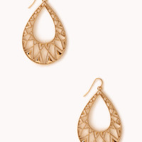 Clear Cut Teardrop Earrings