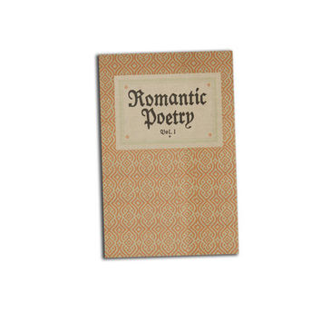 Romantic Poetry Book Journal Notebook Hardcover