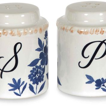 Floral Pattern Salt & Pepper Shakers