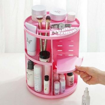 360° Rotating Makeup Organizer, Cosmetic Storage Box