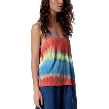 Authentic Tie Dye Piko Tank, Multi