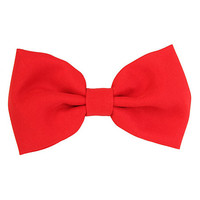 LOVEsick Oversized Red Hair Bow