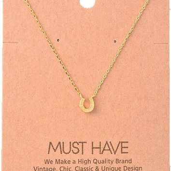 Must Have-Horseshoe Necklace, Gold