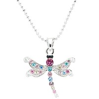 Dragonfly Gemmed Body Necklace