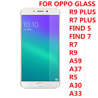 2016 9H 0.3MM 2.5D Screen Protector Film Tempered Glass g For OPPO R5 R9 R7 R9 R7 PLUS FIND 5 7 A59 A37 A30 A33 free shipping