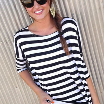 Black Striped Piko | The Rage