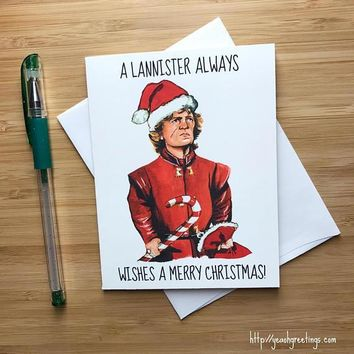 Tyrion Lannister The Imp Peter Dinklage Game Of Thrones Funny Christmas Card Holiday Card FREE SHIPPING