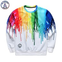 New funny colorful painting 3D print sweatshirt hoodies Men Women long sleeve sweat shirts casual tops art sweatshirt