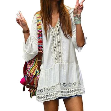 Crochet Summer Boho Beach Cover-Up